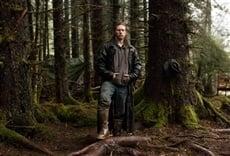 Escena de Alaska: hombres primitivos