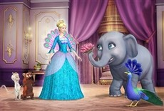 Escena de Barbie como la princesa de la isla