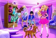 Escena de Barbie, escuela de princesas