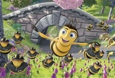 Escena de Bee movie, la historia de una abeja