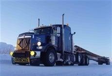 Escena de Camioneros del hielo