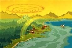 Escena de Campamento Lakebottom