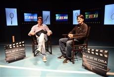 Televisión En el set de Chela