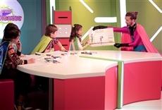 Escena de Laboratorio de superhéroes