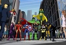 Escena de Los Vengadores unidos