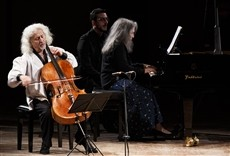 Televisión Pappano Argerich - Maisky desde Santa Cecilia