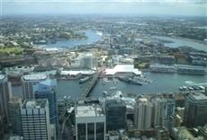 Escena de Puerto de Sídney al descubierto