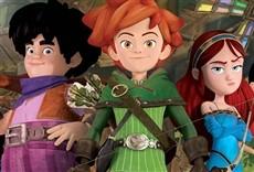 Escena de Robin Hood, travesuras en Sherwood