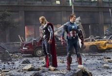 Escena de Los Vengadores de Marvel