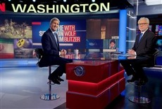 Escena de The Situation Room with Wolf Blitzer