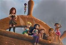 Escena de Campanilla, hadas y piratas