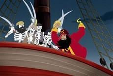 Escena de Tom y Jerry y el tesoro del galeón pirata