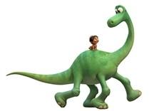 Escena de Un Gran Dinosaurio