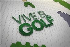 Escena de Televisión Vive el golf