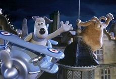 Escena de Wallace & Gromit. La maldición de las verduras
