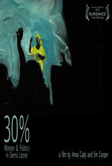 30% Women & Politics in Sierra Leone
