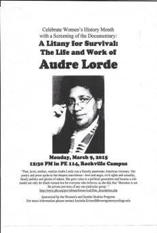 Ver película A Litany for Survival: The Life and Work of Audre Lorde