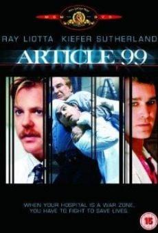 Ver película Artículo 99