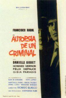 Ver película Autopsia de un criminal