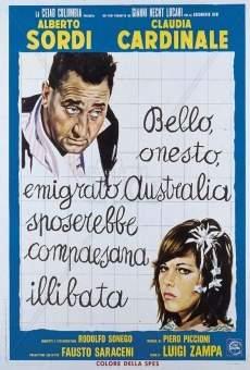 Ver película Bello, honesto, emigrado a Australia quiere casarse con chica intocada