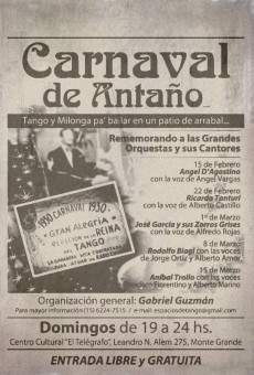 Ver película Carnaval de antaño