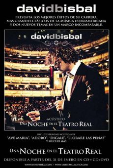 David Bisbal: Una noche en el Teatro Real on-line gratuito