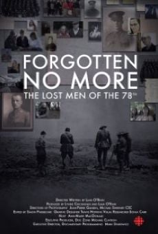 Forgotten No More: The Lost Men of the 78th