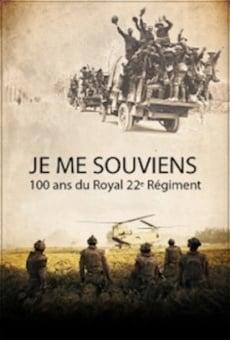 Je me souviens: 100 ans du Royal 22e Régiment online