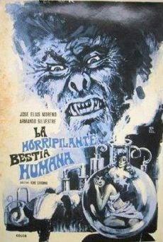 Ver película La horripilante bestia humana