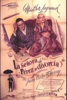 Ver película La señora de Pérez se divorcia