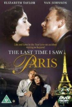 La dernière fois que j'ai vu Paris en ligne gratuit