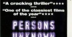 Filme completo Persons Unknown