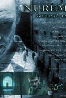 Nuremberg: Goering's Last Stand Online Free