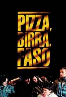 Pizza, birra, faso online