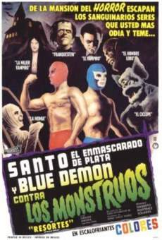 Santo el enmascarado de plata y Blue Demon contra los monstruos on-line gratuito