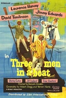 Tres hombres en una barca