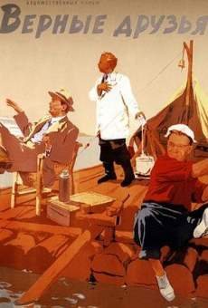 Trois hommes sur un radeau
