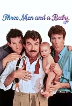 Tres hombres y un bebé online