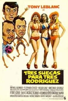 Ver película Tres suecas para tres Rodríguez