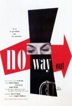 no way out 1950 film en fran ais cast et bande annonce. Black Bedroom Furniture Sets. Home Design Ideas