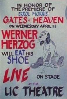 Película: Werner Herzog Eats His Shoe