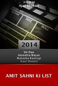 Amit Sahni Ki List online
