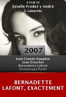 Bernadette Lafont, exactement online free