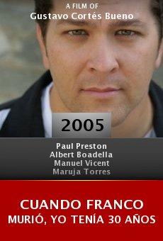 Cuando Franco murió, yo tenía 30 años online free