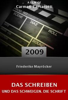 Ver película Das Schreiben und das Schweigen. Die Schriftstellerin Friederike Mayröcker