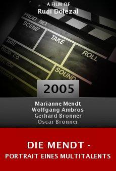 Die Mendt - Portrait eines Multitalents online free