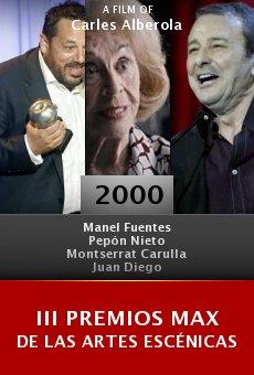 III premios Max de las artes escénicas online free