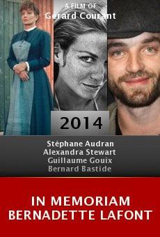 In Memoriam Bernadette Lafont online