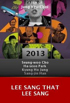 Ver película Lee Sang That Lee Sang