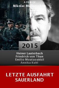 Ver película Letzte Ausfahrt Sauerland
